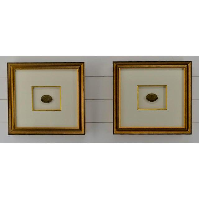 Federal Eagle Drawer Pulls, Set of 2, Framed, Antique For Sale In Atlanta - Image 6 of 6