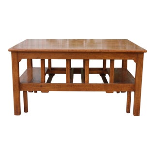 1960s Mission Oak Coffee Table For Sale