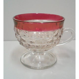 Faceted Cranberry Punch Bowl, Cups & Ladle - 14 Pieces Preview