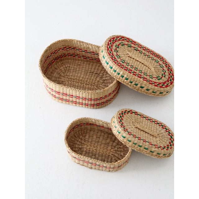 Vintage Sweetgrass Baskets - a Pair For Sale - Image 6 of 8