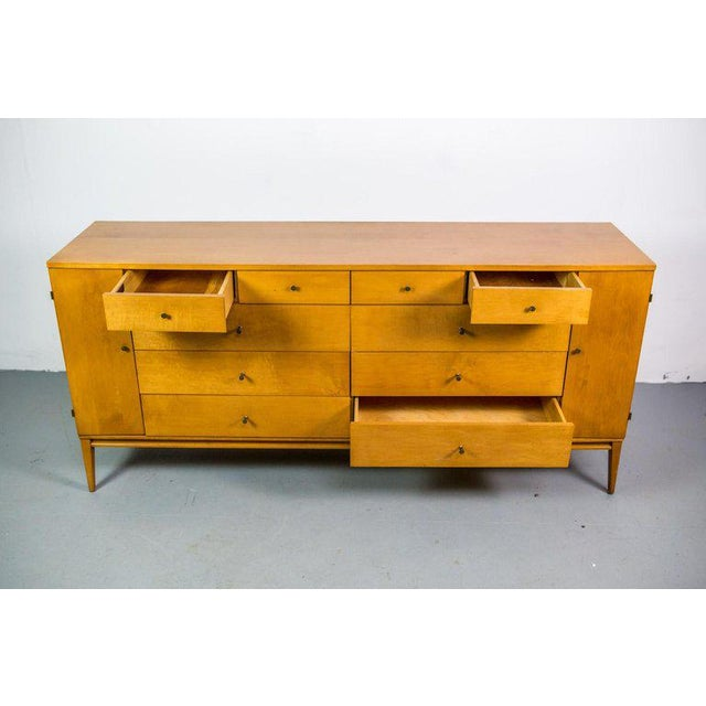 Mid-Century Modern Paul McCobb for Winchendon Twenty-Drawer Chest With Brass Pulls For Sale - Image 3 of 8