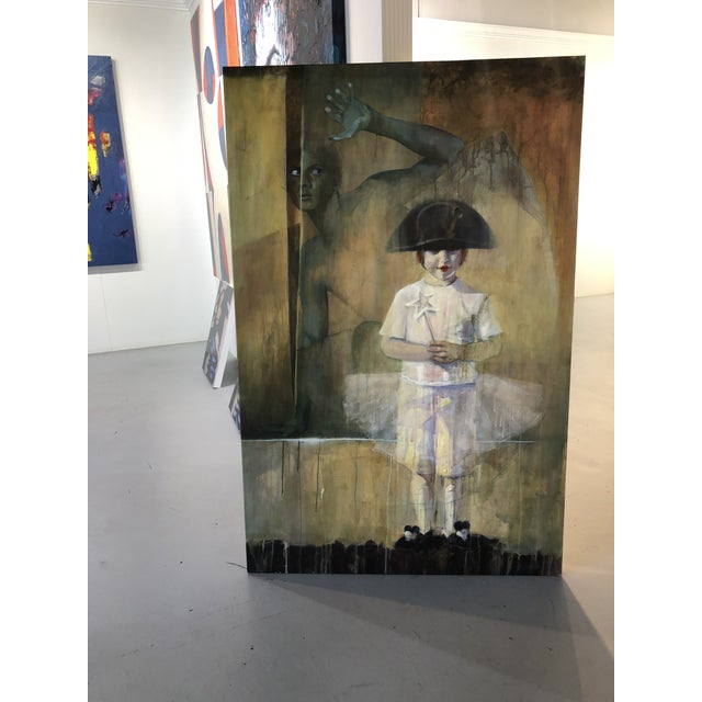 """About the Artist: """"I am a figurative painter who enjoys telling a story. My paintings recently have incorporated bits and..."""