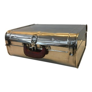 Vintage English Polished Aluminum Luggage