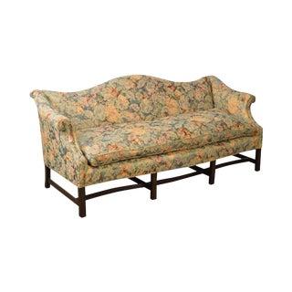Custom Quality Mahogany Chippendale Style 8 Leg Sofa For Sale