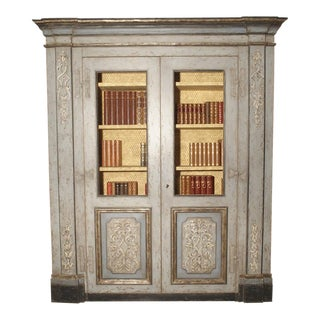 Painted Bookcase From Northern Italy, 20th Century For Sale