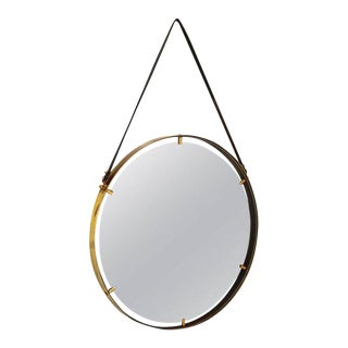 Brass Wall Hanging Mirror For Sale