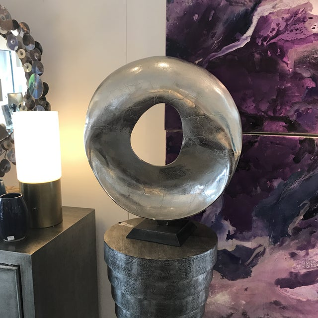 Modern Round Sculpture For Sale - Image 4 of 6