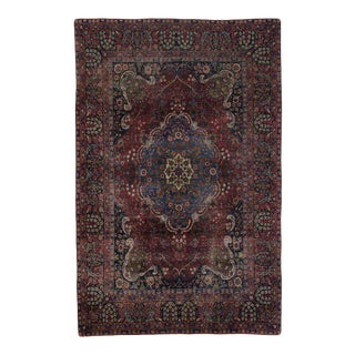Antique Yazd Persian Rug with Traditional Style