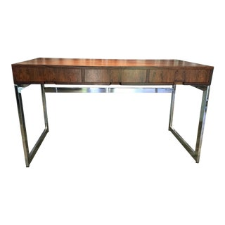 Milo Baughman Rosewood & Chrome Desk