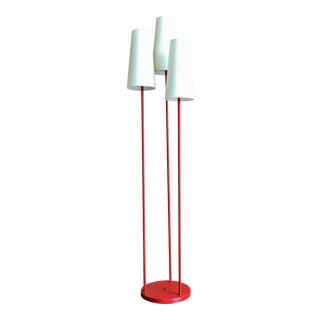 Mid-Century Modern David Wurster for Raymor Red Metal Floor Lamp For Sale
