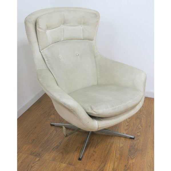 Overman Swivel Lounge Chair Scandinavian Modern, Circa 1970 - Image 2 of 3