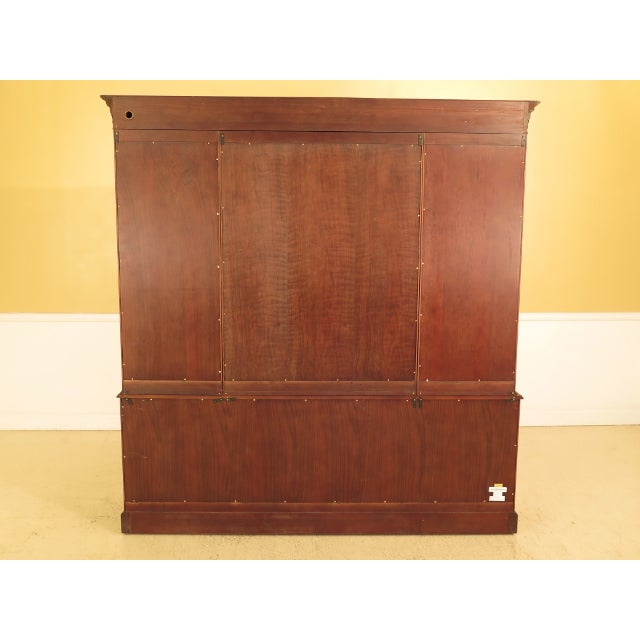 MAITLAND SMITH Large Mahogany Breakfront Bookcase Cabinet Age: Approx: 20 Years Old Details: Quality Construction Large...