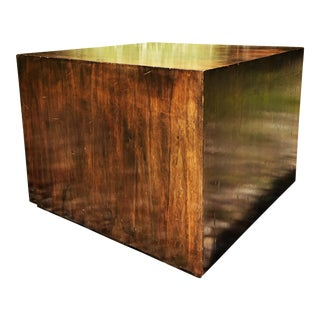 Milo Baughman Style Cube Coffee Table or End Table For Sale