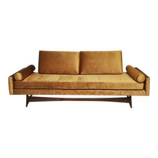 Adrian Pearsall Gondola Sofa in Gold Velvet