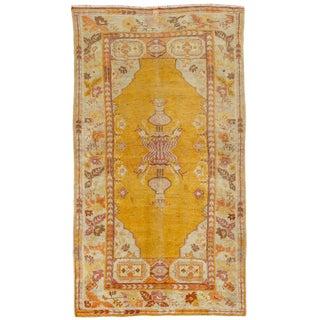 "Apadana - Vintage Turkish Oushak Rug, 3' X 5'8"" For Sale"