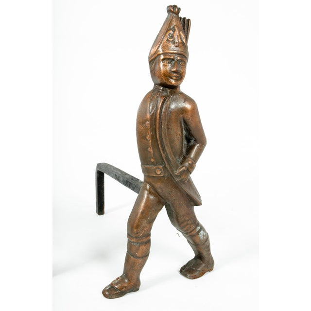 Pair of Hessian Soldier Figural Andirons For Sale In New York - Image 6 of 7