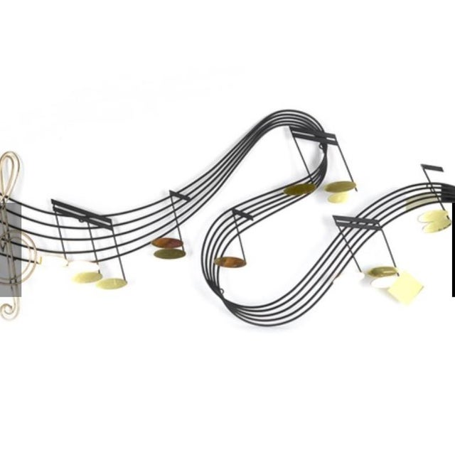 Curtis Jere Musical Note Wall Sculpture - Image 6 of 6