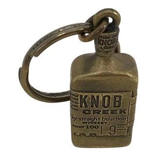 Vintage Brass Knob Creek Bourbon Whiskey Keychain For Sale