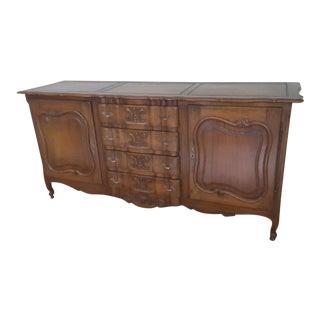 Large French Walnut Sideboard Buffet