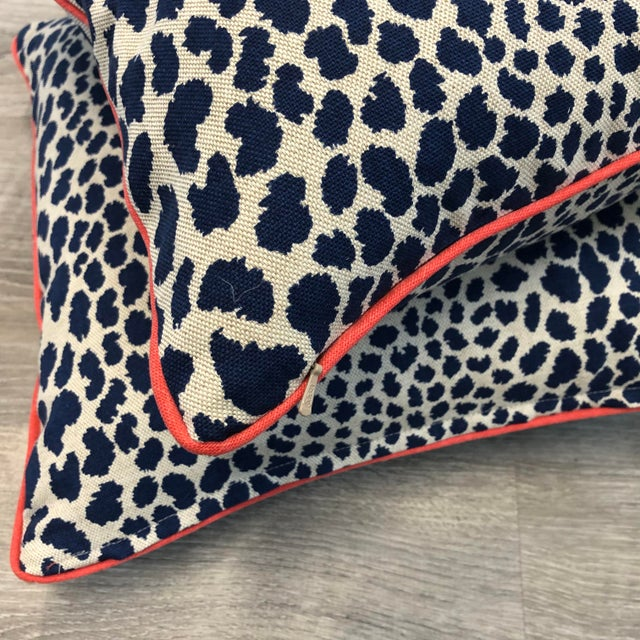 Contemporary Square Animal Print Pillows - a Pair For Sale In Atlanta - Image 6 of 11