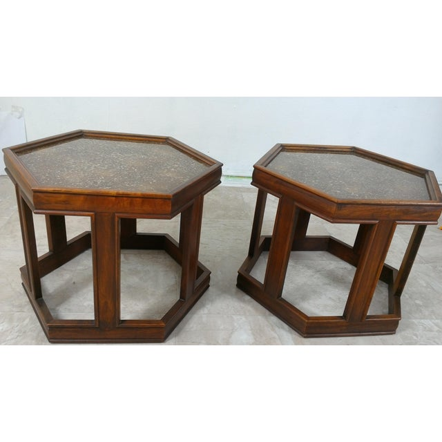 1960s 1960s Mid-Century Modern Brown and Saltman End Tables - a Pair For Sale - Image 5 of 12