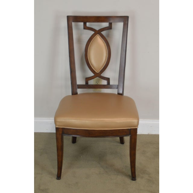Regency Classic Modern Style Set 6 Dining Chairs For Sale - Image 4 of 12