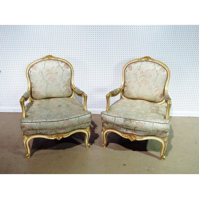Pair of Louis XV Style Fauteuils For Sale - Image 13 of 13
