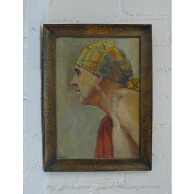 Early 20th Century Antique Portrait Painting For Sale - Image 10 of 10