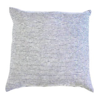Breton Throw Pillow Large Navy For Sale