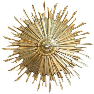 Satin Brass Sunburst Ceiling Medallion