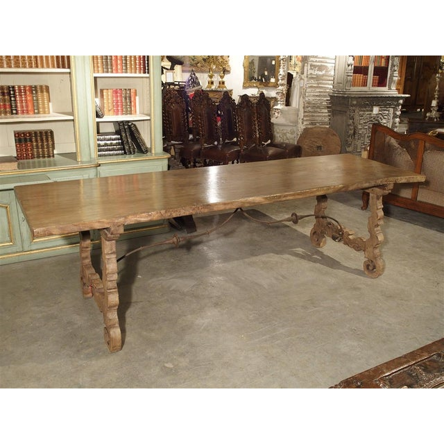 Antique Single Plank Chestnut Table From Spain For Sale - Image 10 of 10