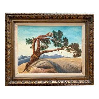 Large Vintage Original Tree Painting For Sale