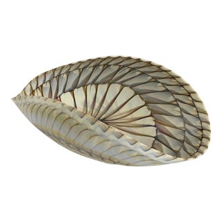 Contemporary Murano Art Glass Seashell Motif Bowl For Sale