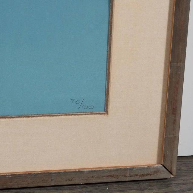 "Blue Jean Arp ""De La Famille Des Etoiles"" 'A. 359' Lithograph Printed in Colors, 1965 For Sale - Image 8 of 10"