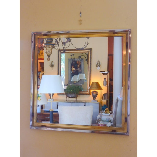 Romeo Rega Romeo Rega Mid-Century Mirror For Sale - Image 4 of 5
