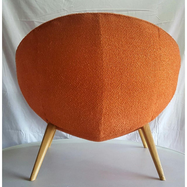 Jean Royere-Style Egg Chair - Image 5 of 5