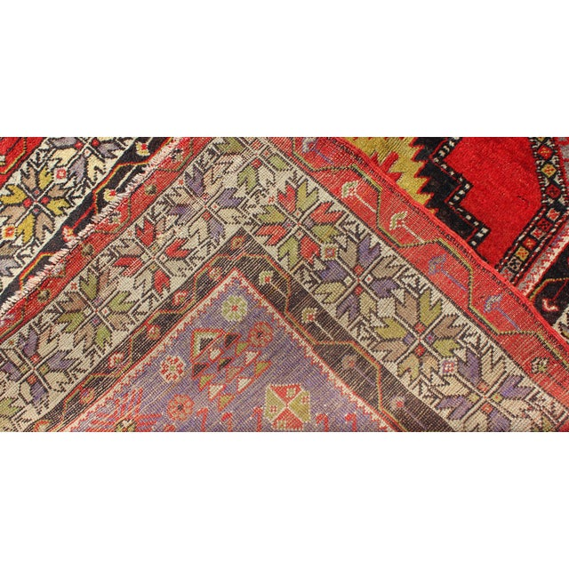 Keivan Woven Arts, L11-1001,, 1920s Antique Turkish Oushak Rug - 3′7″ × 4′10″ For Sale In Atlanta - Image 6 of 7