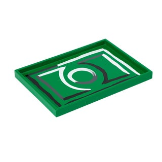 Luke Edward Hall Collection Small Etienne Tray in Green For Sale