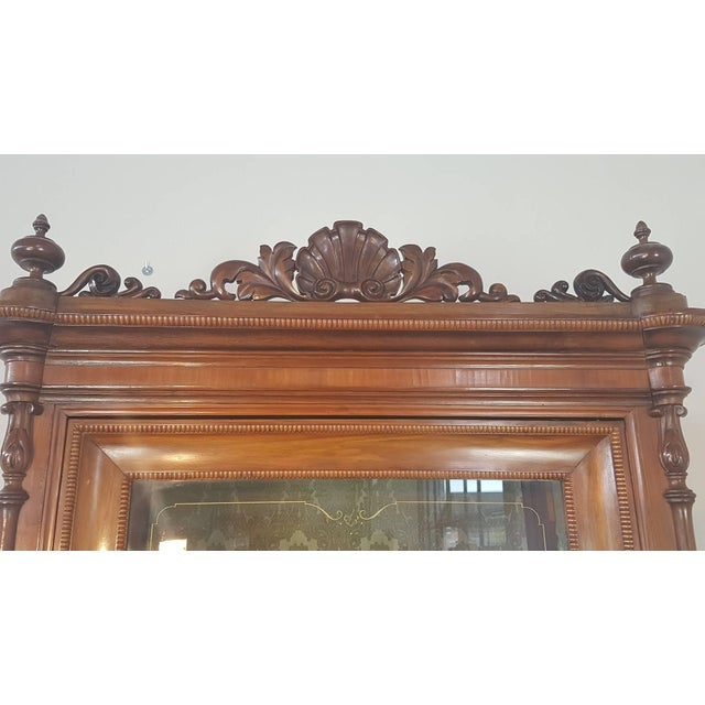 19th Century Italian Charles X Cherry Wood Cabinet For Sale - Image 6 of 13