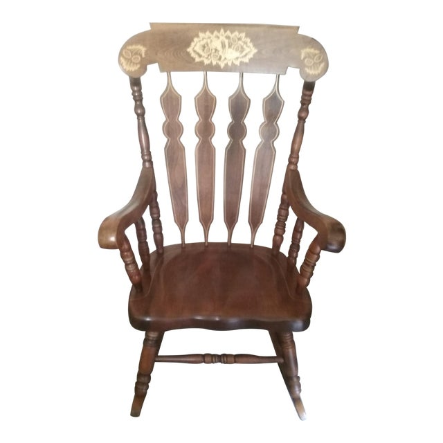 Mid 19th Century Vintage Yugoslavian Rocking Chair For Sale