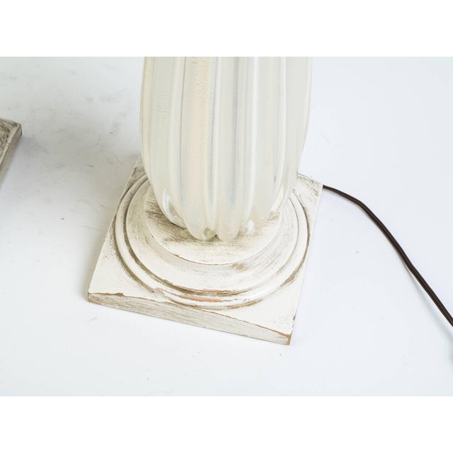Pair of 1960s Gold Fleck Murano Lamps For Sale - Image 4 of 7