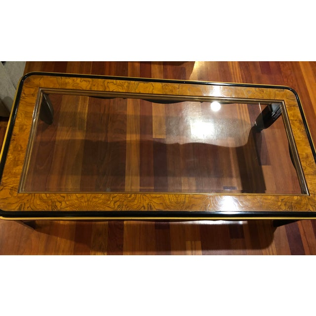 Gold 1980s Chinoiserie Drexel Heritage Coffee Table For Sale - Image 8 of 11