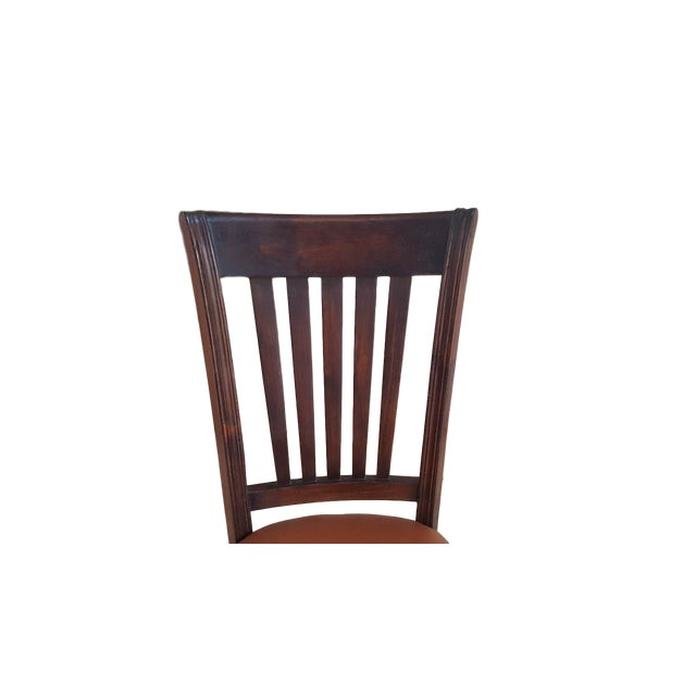 Teak Wood Classic Dining Chairs - Set of 6 - Image 4 of 5