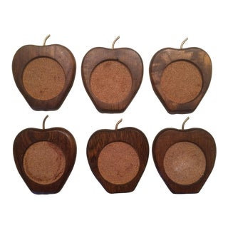 Mid-Century Wood Coasters - Set of 6 For Sale