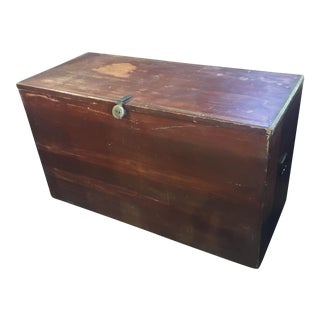 Primitive Red Hand Made Cedar Chest
