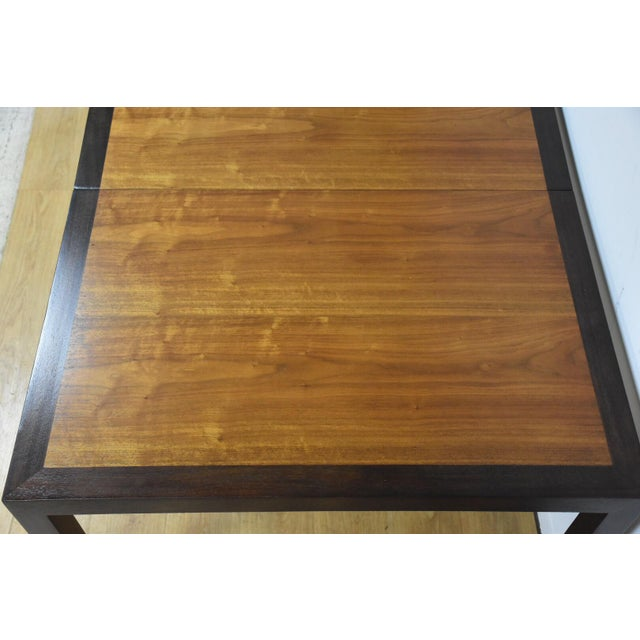 1960s Edward Wormley for Dunbar Mahogany and Walnut Dining Table For Sale - Image 5 of 11