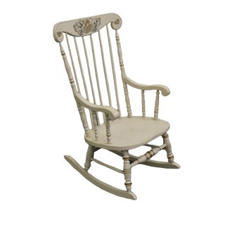 Late 20th Century Vintage Ethan Allen Hitchcock Stenciled Cape Cod Rocker For Sale