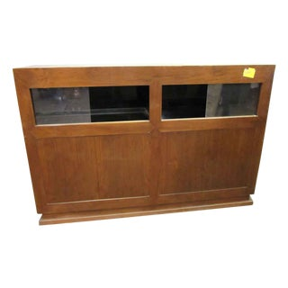 Antique Wall Showcase Cabinet For Sale