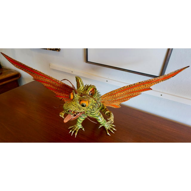 "Mid-Century Modern Fantastical Creature ""Alebrijes"" by Felipe Linares For Sale - Image 3 of 9"