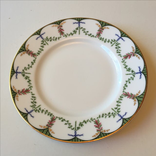 French Ceralene Raynaud Festivite Bread Plates - Set of 6 For Sale - Image 3 of 4
